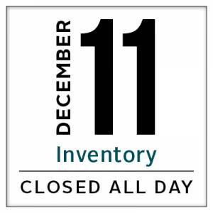 Calendar, Wenatchee store closed for inventory December 11